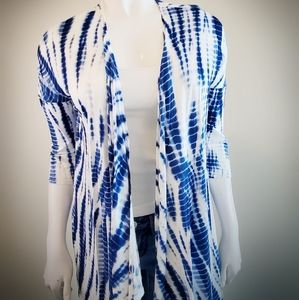 H&M Blue and White tie dye cardigan